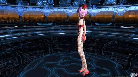 チャイナドレス紅・網タイツ3