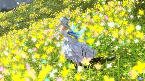 お花畑で♪