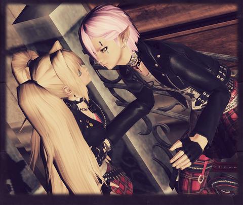 クレア姫とシアンくん(PUNK)