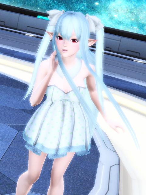 ベアトップドレス雪☆