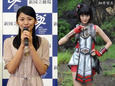 佃井皆美(7)-アクションが得意で戦隊ヒーローものに多く出演してきた女優が時代劇に出演した際に後ろ手縛りされたシーン