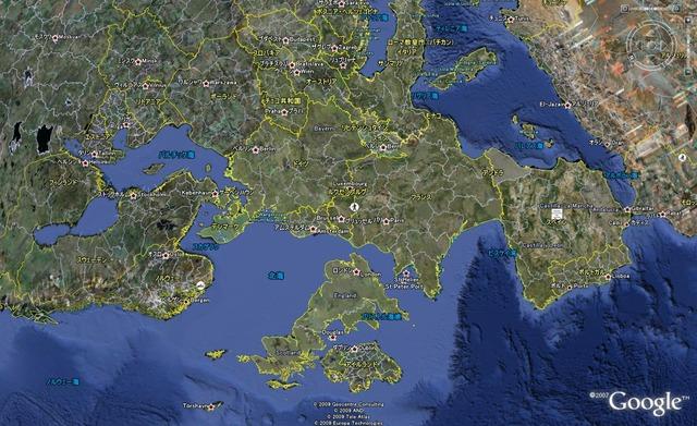 イギリスが下にある西欧地図090521