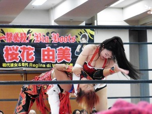 加藤園子&花月vs希月あおい&朱里 (2)