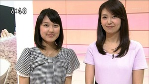 NHK・近江アナ ブラウス逆 (1)