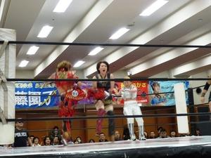 尾崎魔弓&桜花由美&雪妃魔矢 vs 加藤園子&AKINO&花月 (17)