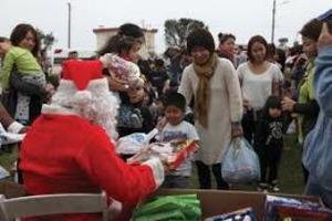キャンプシュワブ内のクリスマス行事