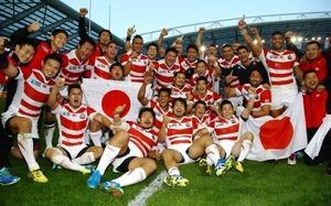 W杯ラグビー 南ア戦 (1)