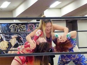 藤本つかさ vs 米山香織 vs 山下りな (5)