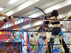 尾崎魔弓&桜花由美&雪妃魔矢 vs 加藤園子&AKINO&花月 (1)