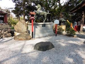 水戸黄門腰掛け石 (1)