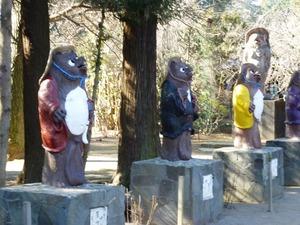 茂林寺たぬき像 (1)
