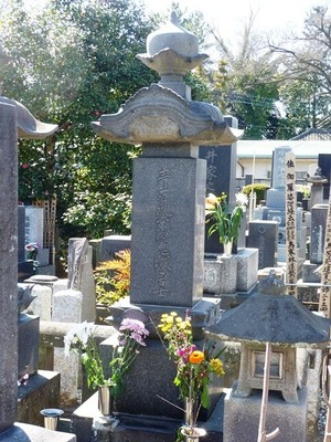 村上鬼城の墓 (3)