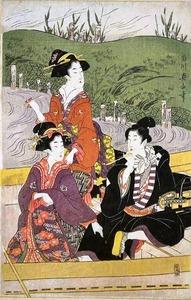 菊川英山画