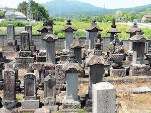 岸豊後守積保の墓 (2)