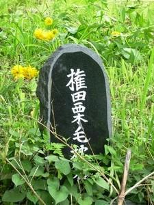 権田栗毛終焉の地 (2)