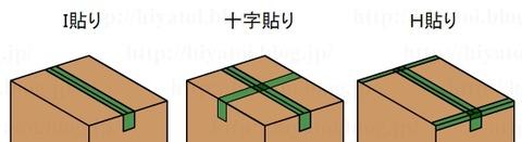 段ボールのテープの貼り方