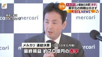 【悲報】メルカリ、大赤字wwwwww