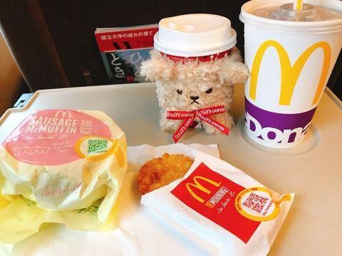 【悲報】高橋みなみが新幹線でマックを食べる迷惑行為
