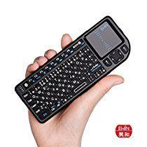 【特価】スマホでもPCでも使える Ewin ミニ bluetooth タッチパッド搭載 ワイヤレス 小型 キーボード USB レシーバー付 3,024円