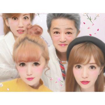 河西智美の家族4人で撮ったプリクラがこちら