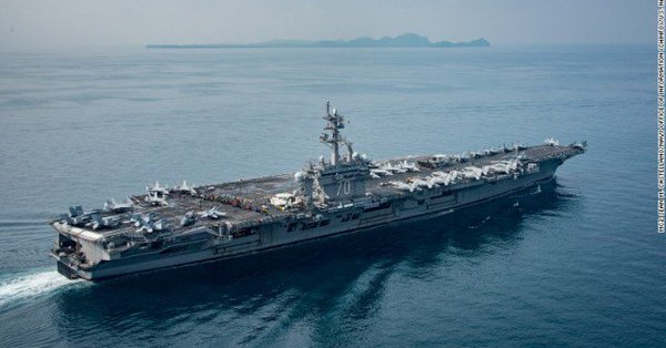 アメリカ空母、痛恨の連絡ミスでインド洋に到着!?