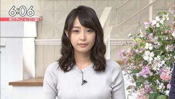 TBS宇垣美里アナのニット姿の破壊力wwwwww