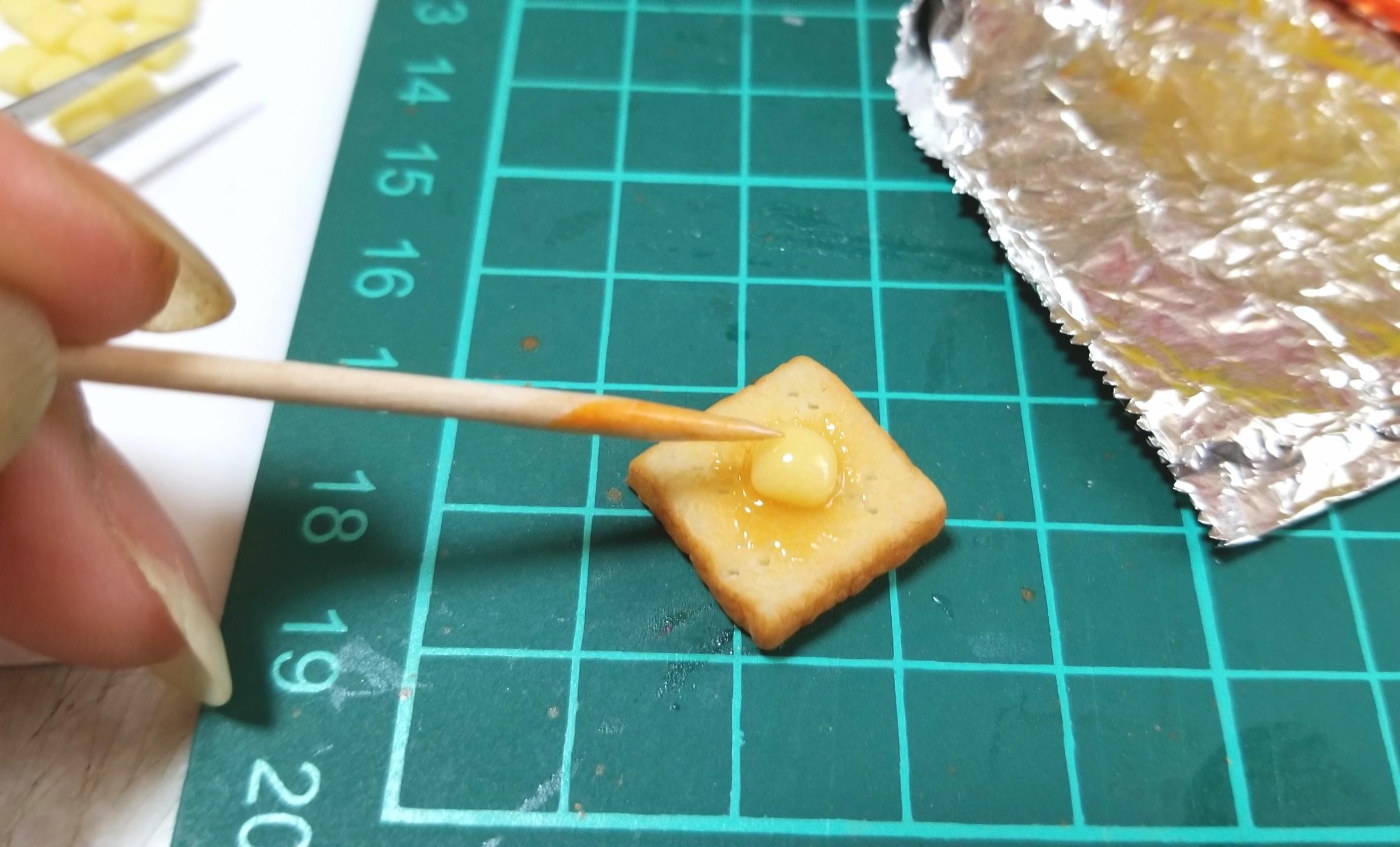 ミニチュアフード,バタートーストの作り方,樹脂粘土,食品サンプル