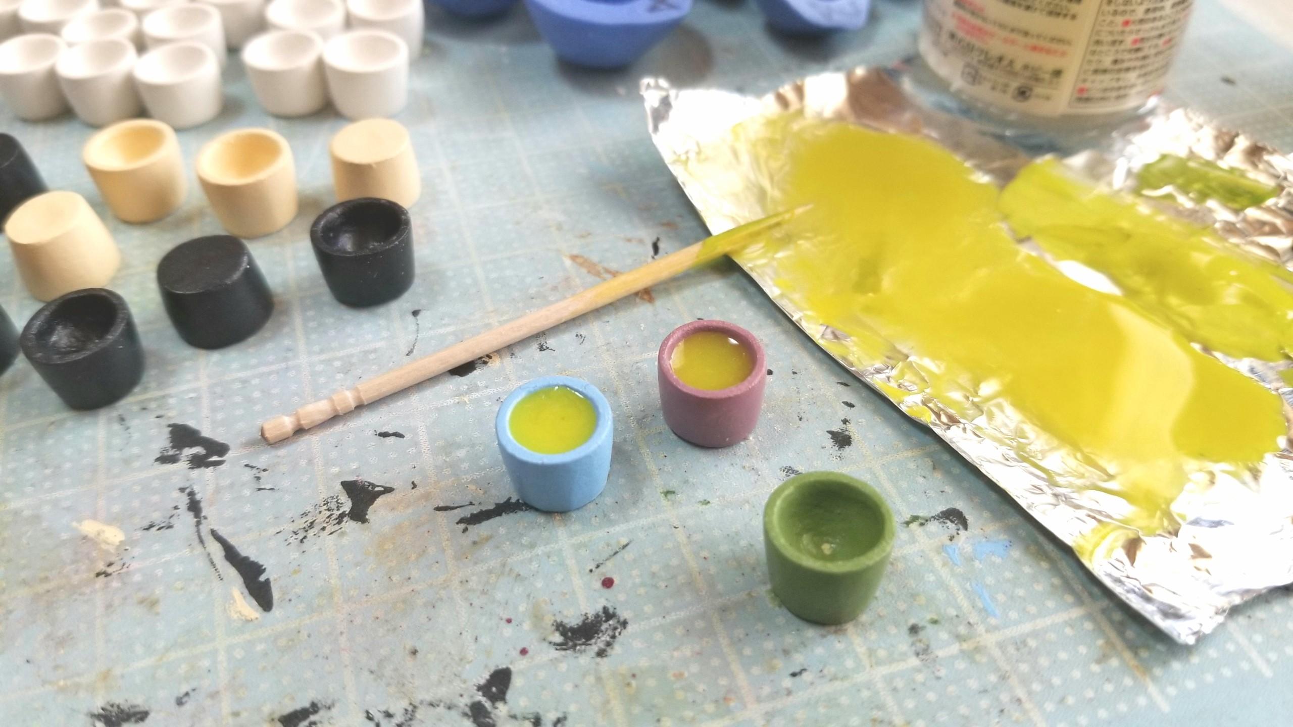 お茶,ミニチュアフード,お抹茶,UVレジン,石塑粘土,作り方,ドール