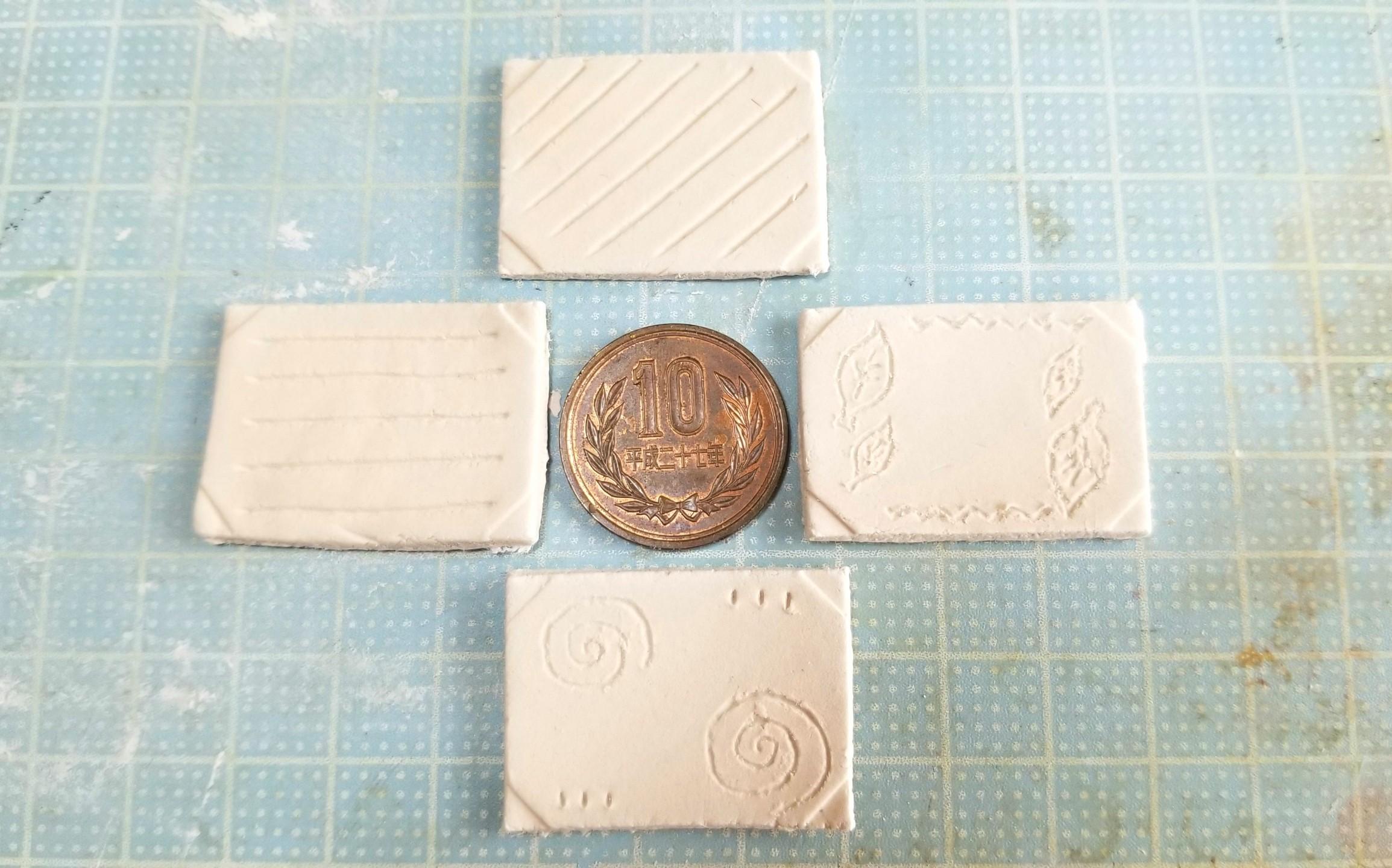 ミニチュア,和食器の作り方,石塑粘土,樹脂粘土,ハンドメイド
