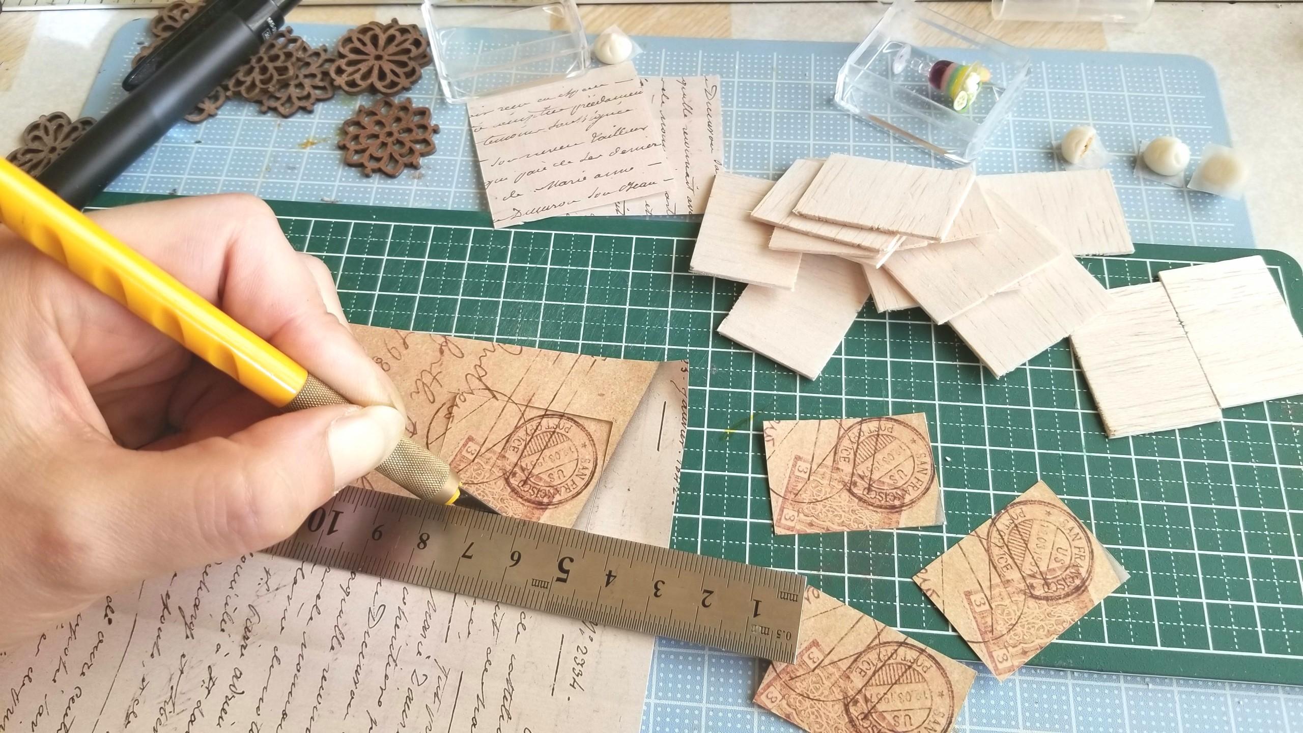 台紙,土台,作り方,ミニチュアフード,折り紙,バルサ材,クリアケース