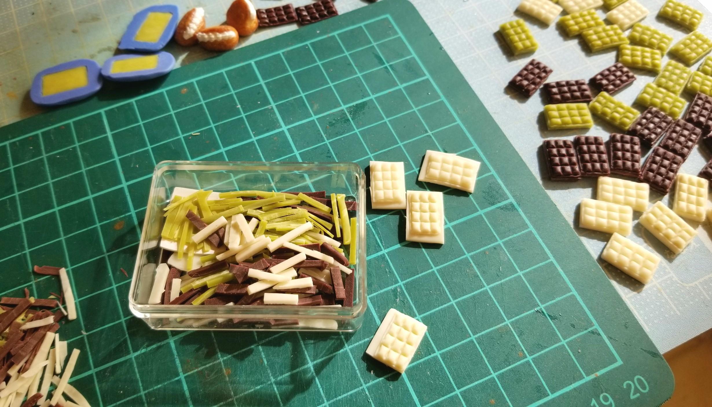 板チョコレート,作り方,ミニチュアフード,樹脂粘土,食品サンプル