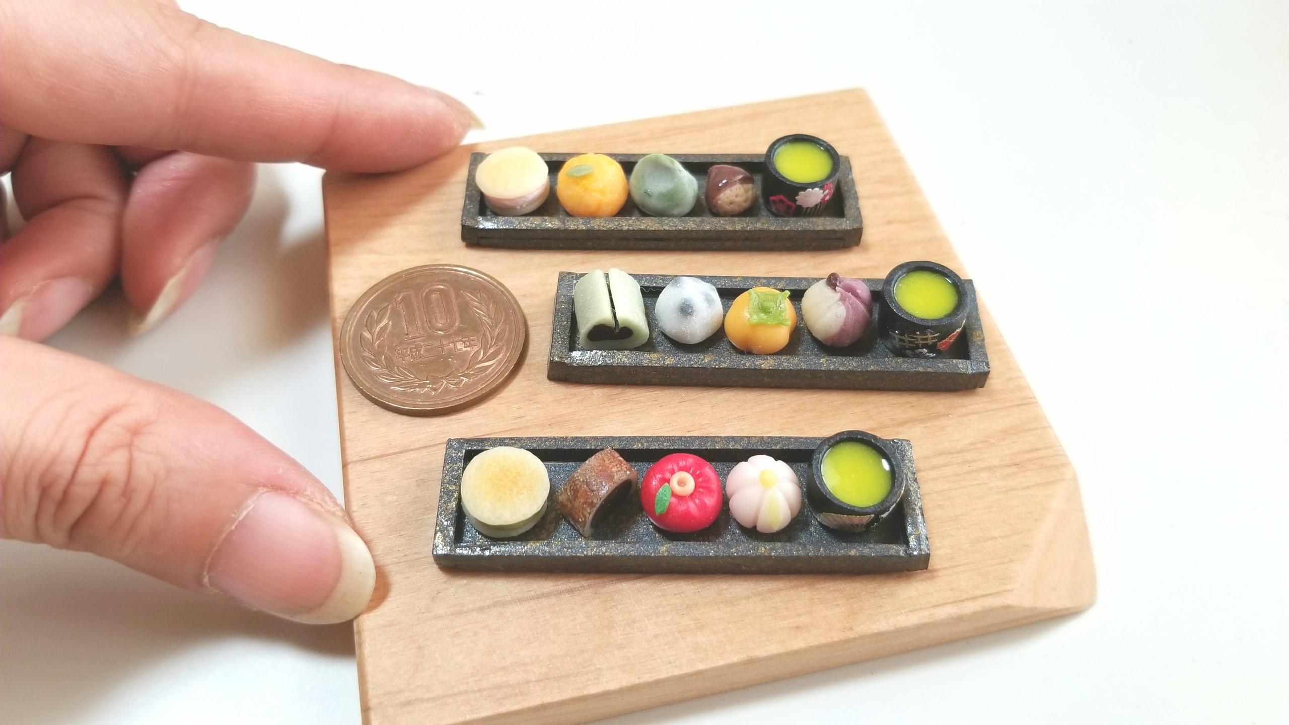 和菓子,ミニチュアフード,東京ドールハウスミニチュアショウ,ドール