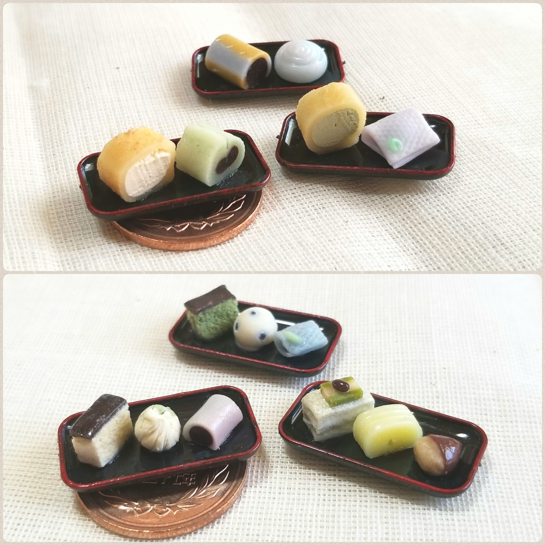 ブロガーのミニチュアフード,小さな和菓子,可愛い,ほっこり,ほのぼの