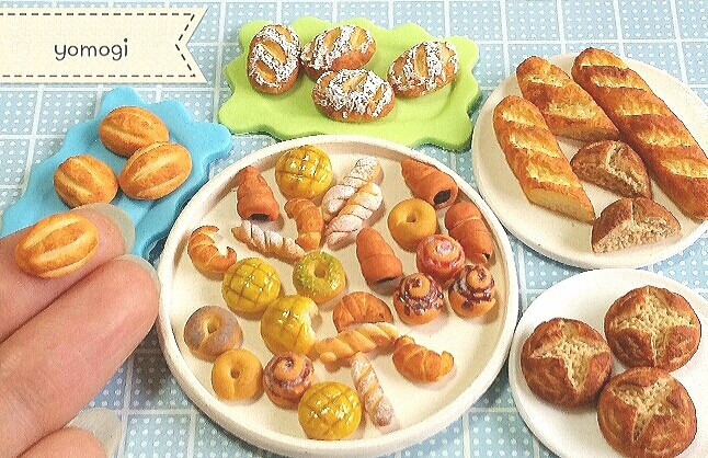 ミニチュアフード,パン,かわいい,食べ物,食品サンプル,ハンドメイド