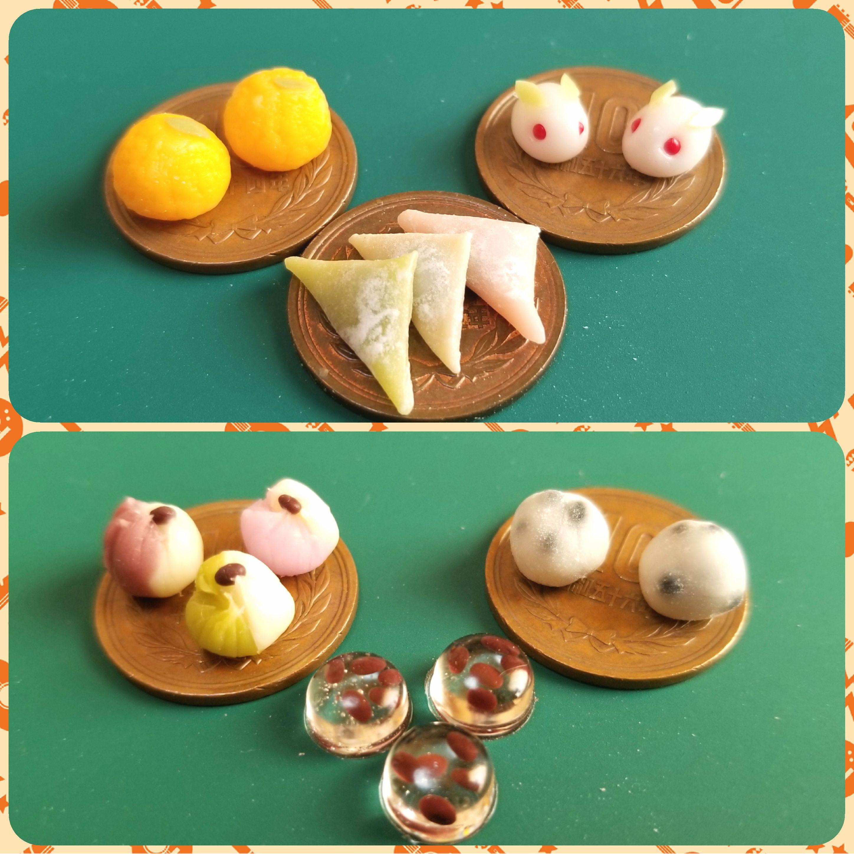 ミニチュア,和菓子,生菓子,練りきり,樹脂粘土,食品サンプル,ねんどろ