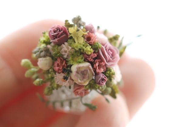 ミニチュアアートフラワー,有名おすすめ作家,shibazukeparipari,花