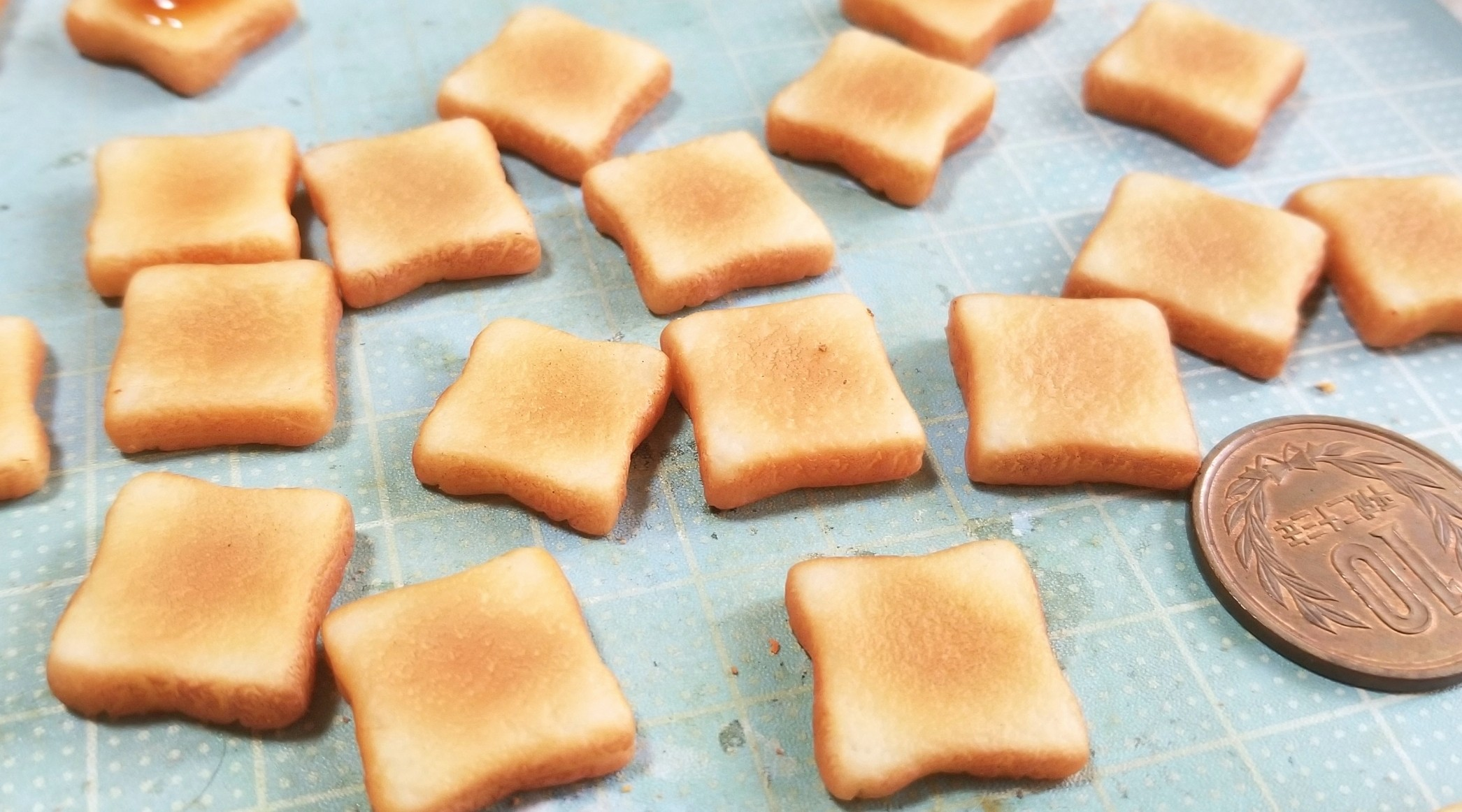 ミニチュア食パンの作り方,美味しいパン,こんがりサクサク,ドール用