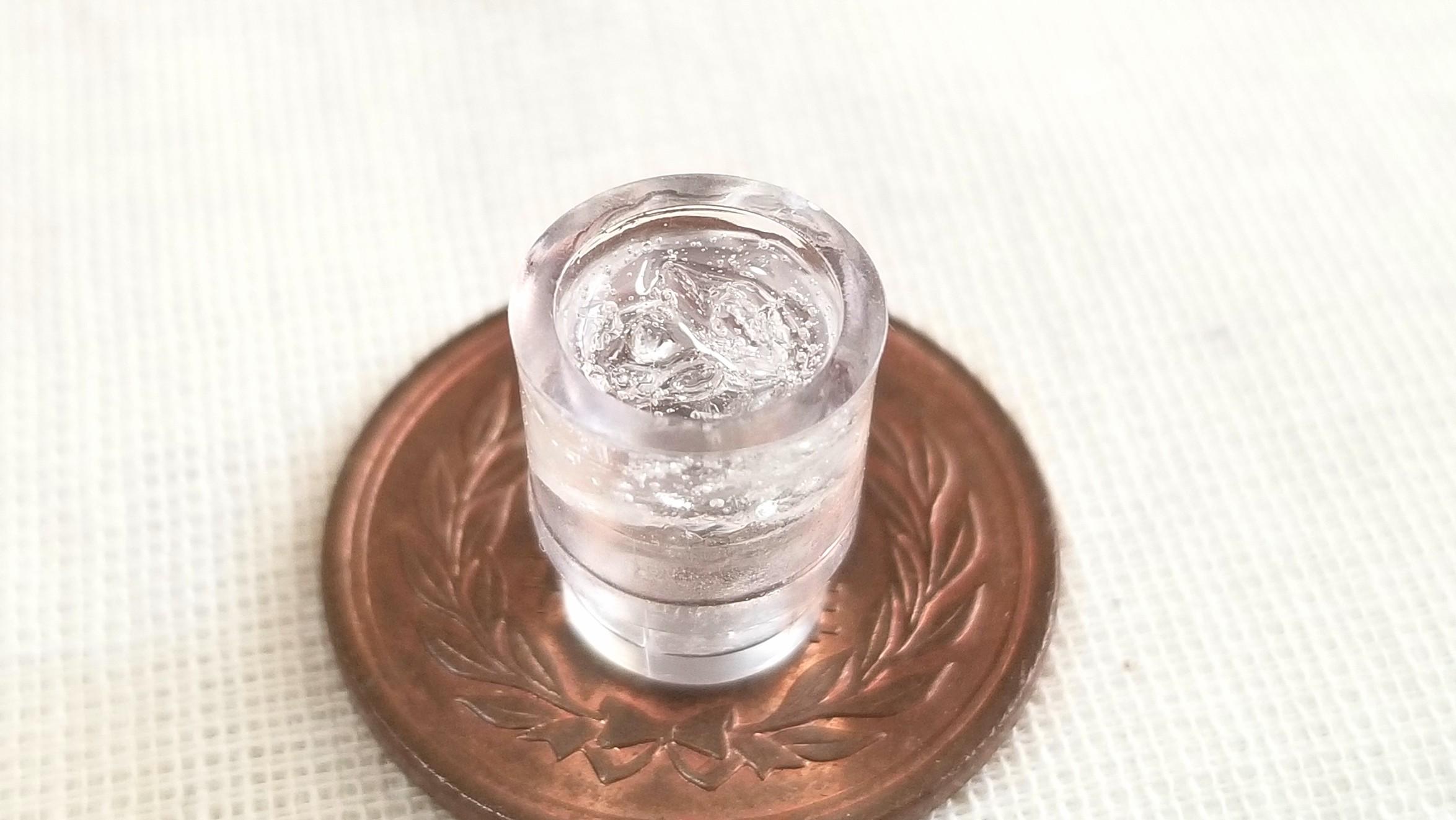 ミニチュアフード,お冷や,冷たい水,ひんやり,UVレジン,夏,美味しい