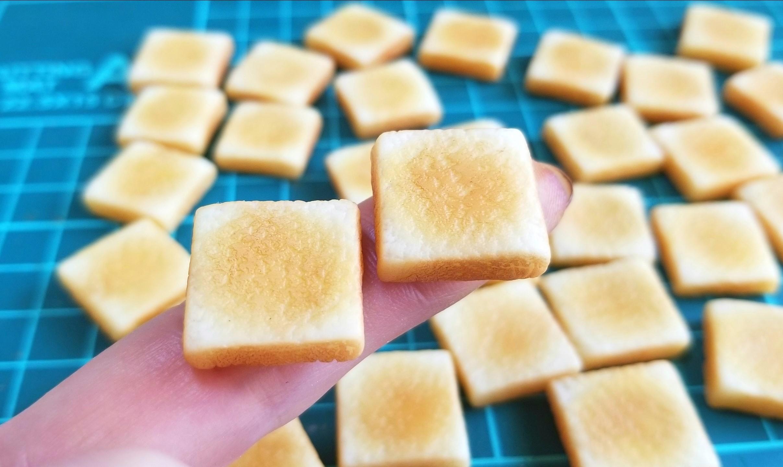 ラピュタパン,トースト,作り方,樹脂粘土,食パン,ドールハウス,食品