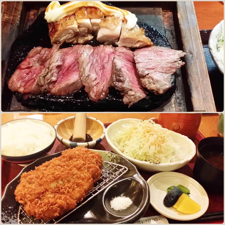 外食,美味しそうな肉料理,,豪華なステーキ,サクサクとんかつ,絶品