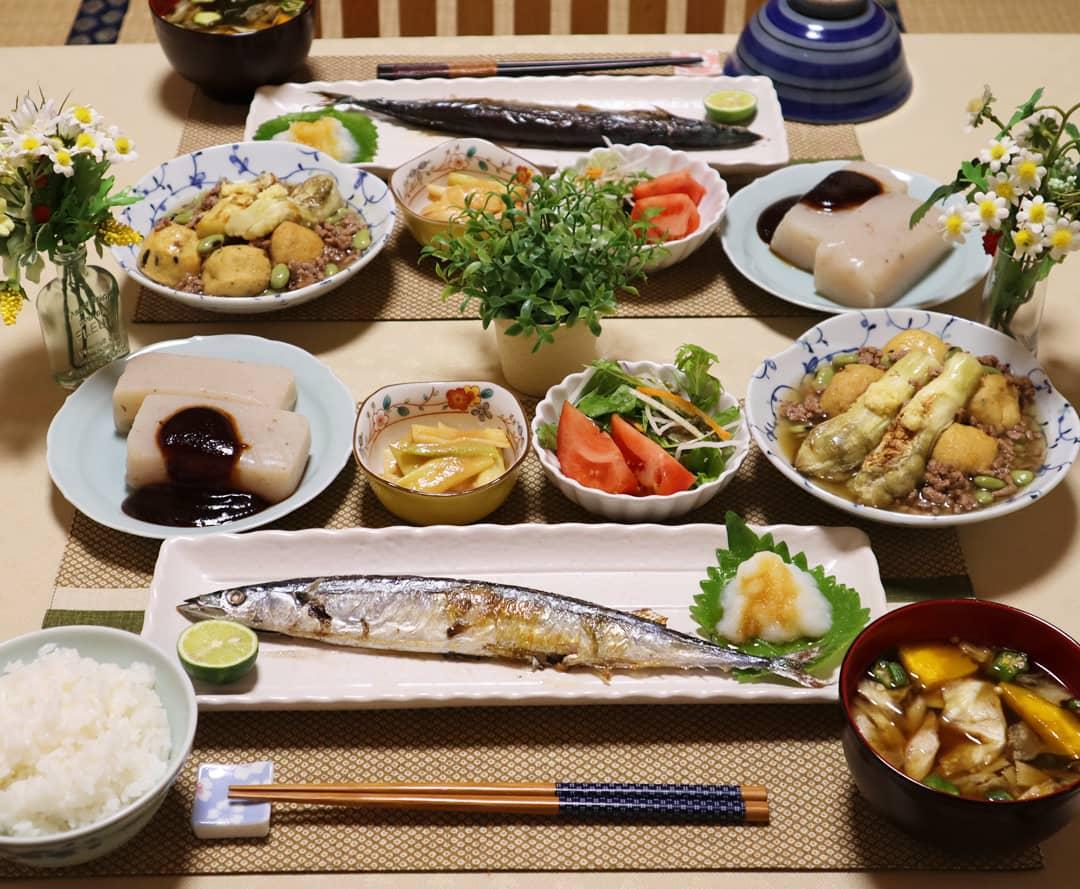 美味しいもの日記,さんま定食,豪華な手料理,理想の食卓,食べたい