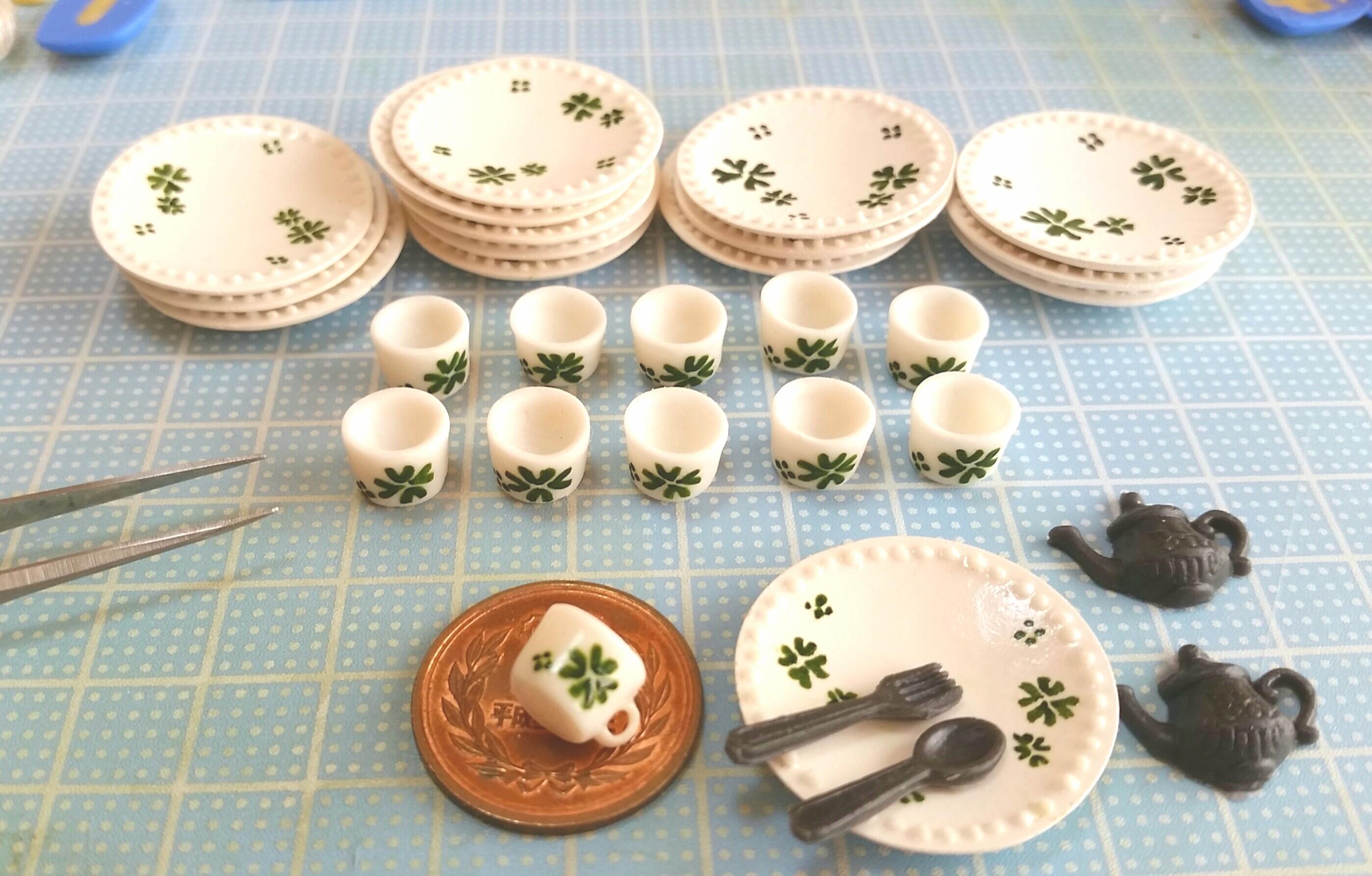 わかりやすいミニチュアフード,食器,コップの作り方,完全攻略,粘土