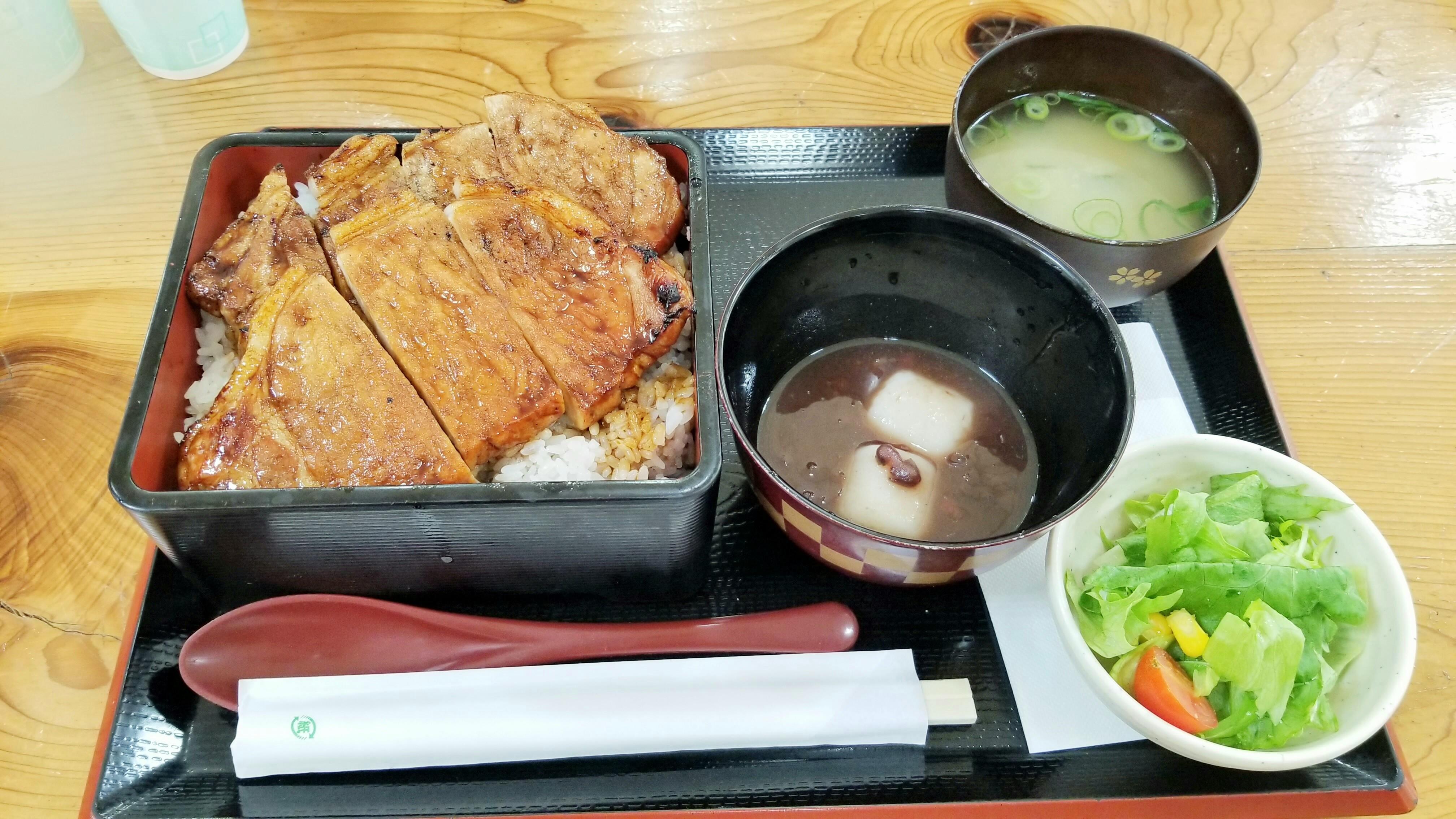 愛媛県松山市美味しい人気ランチ炭火かば焼き重かばよしジョープラ