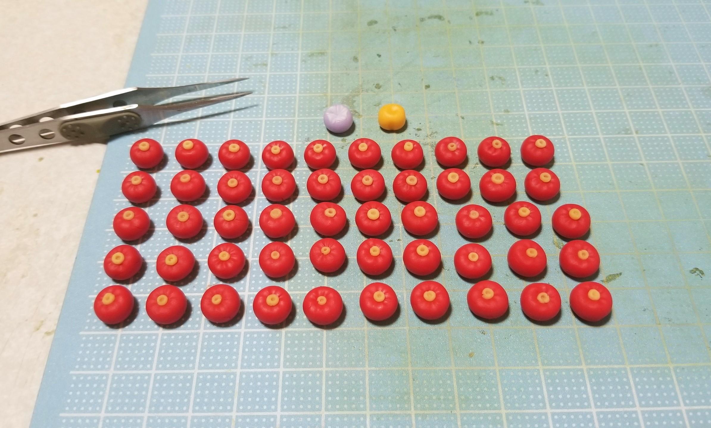 ミニチュアフード,和菓子,練りきり,椿,樹脂粘土,作り方,ハンドメイド