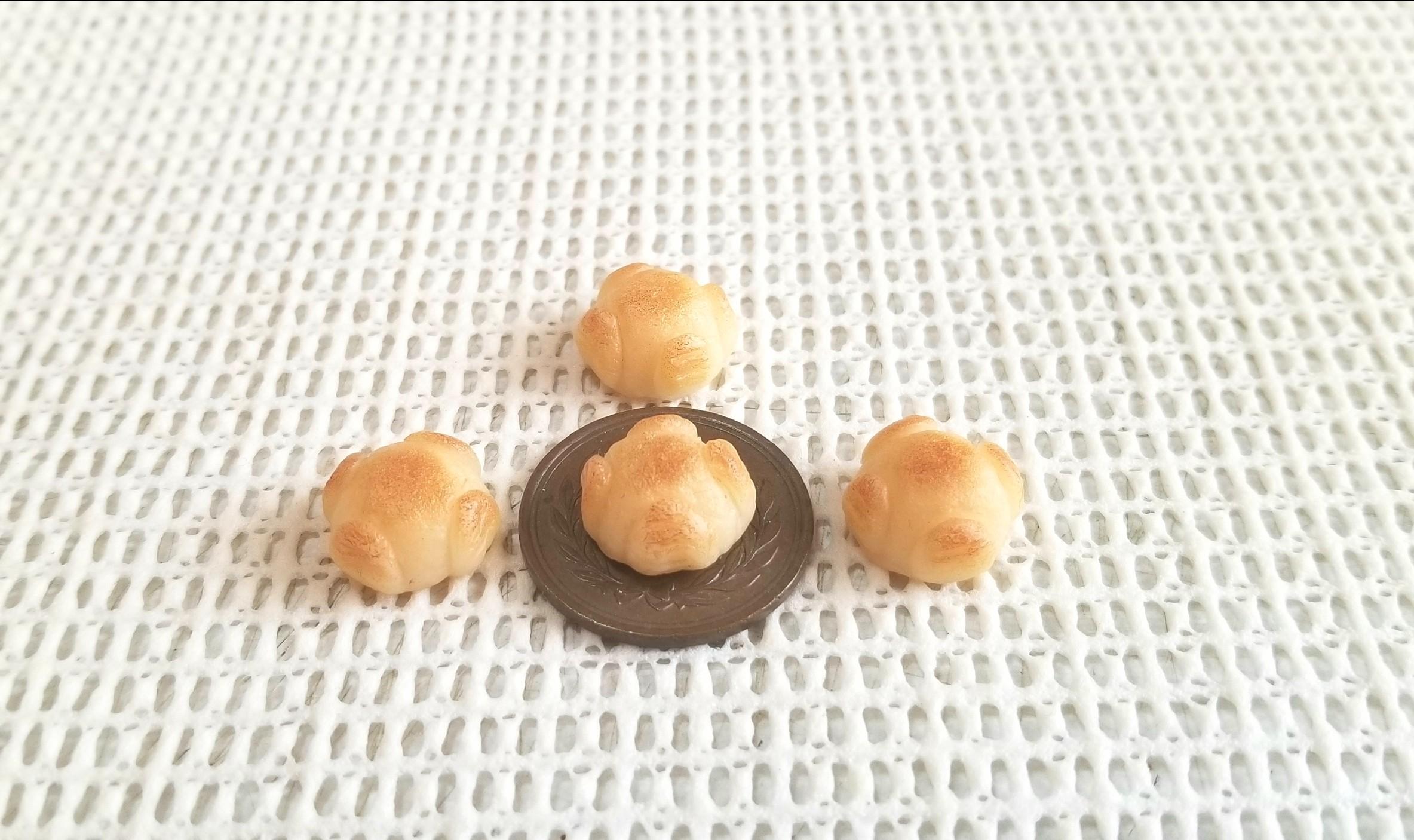 ミニチュアフード,パン,もっちりカンパーニュ,樹脂粘土,オビツろいど