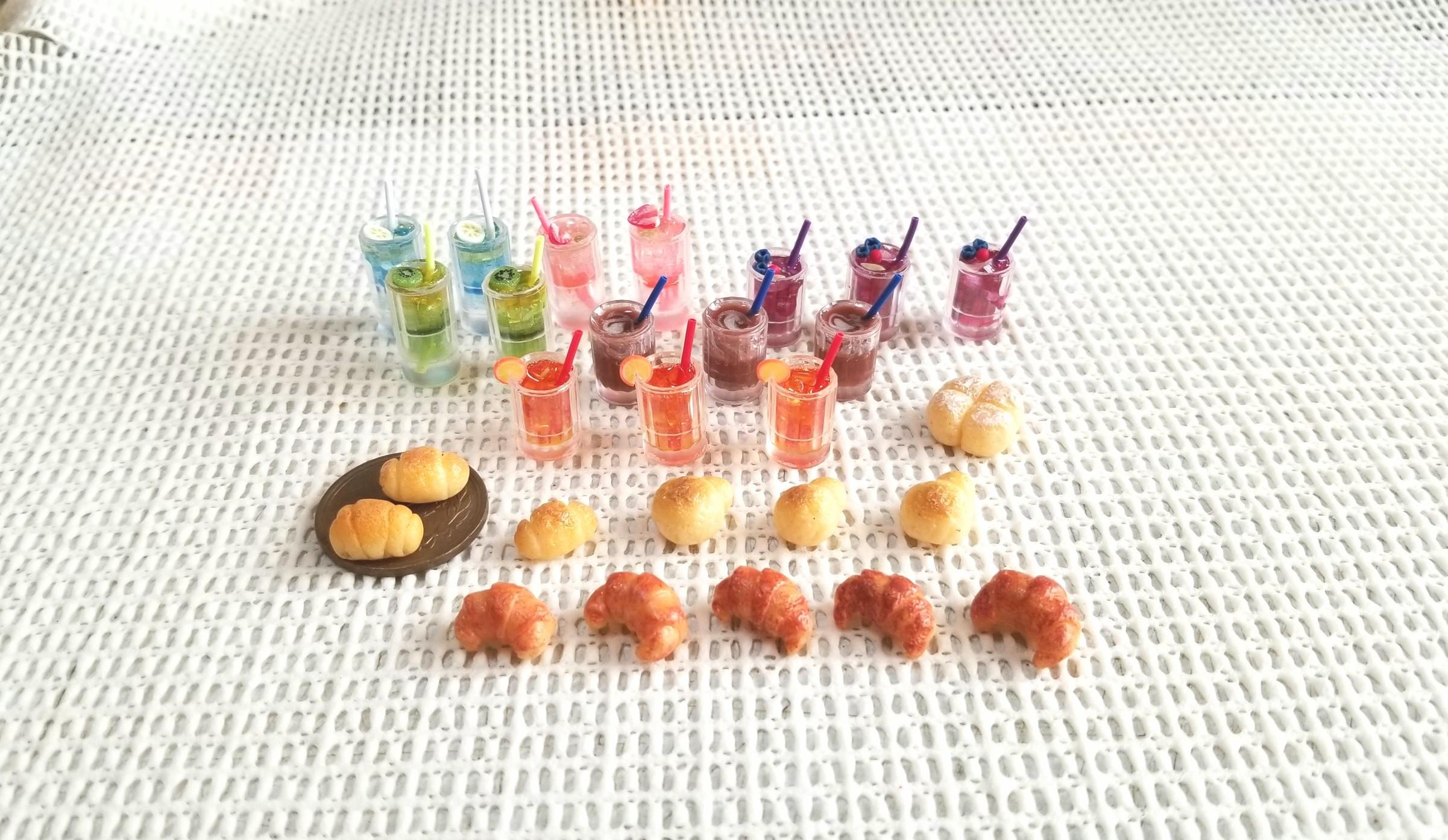 ミニチュアフード,ミンネ,オーダー品,樹脂粘土,UVレジン,パン