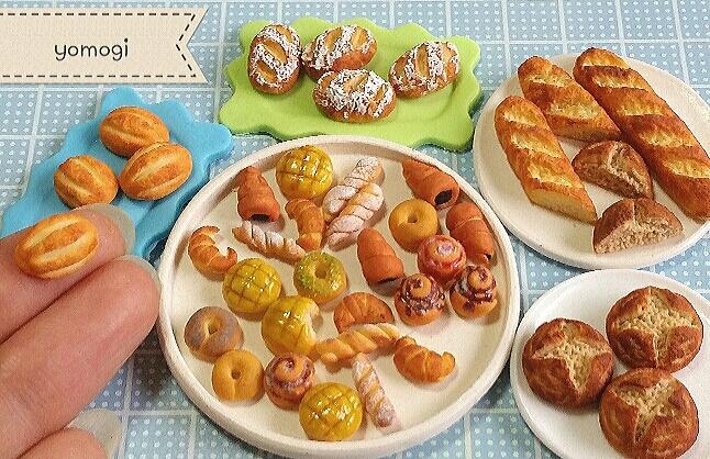 ミニチュア,パン,樹脂粘土,ドールハウス,シルバニア,オビツ11
