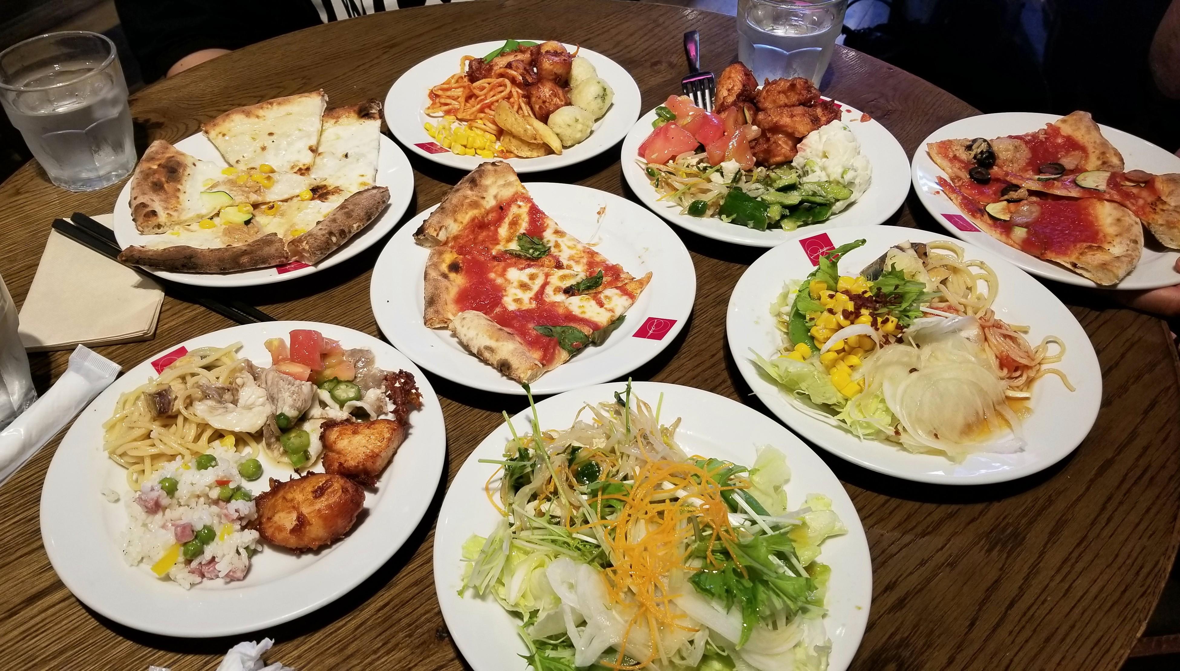 愛媛県松山市ピザバイキング食べ放題美味しいおすすめ洋風レストラン