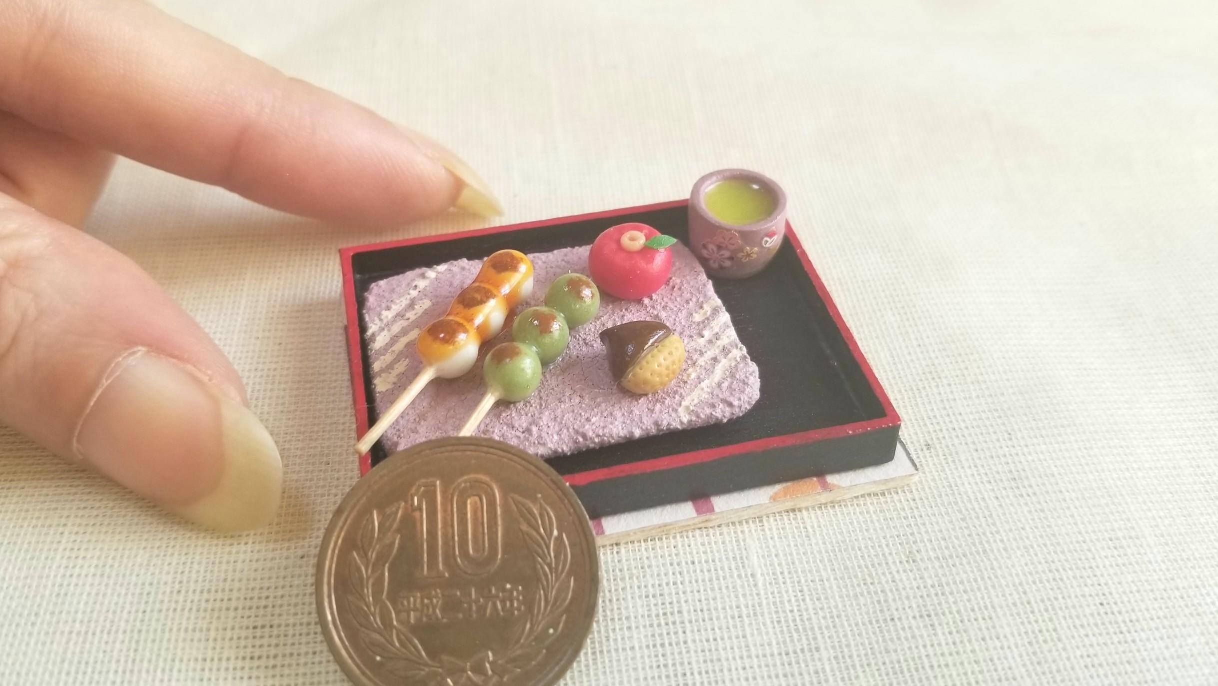 ミニチュアフード,食品サンプル和菓子,かわいいドール小物,樹脂粘土
