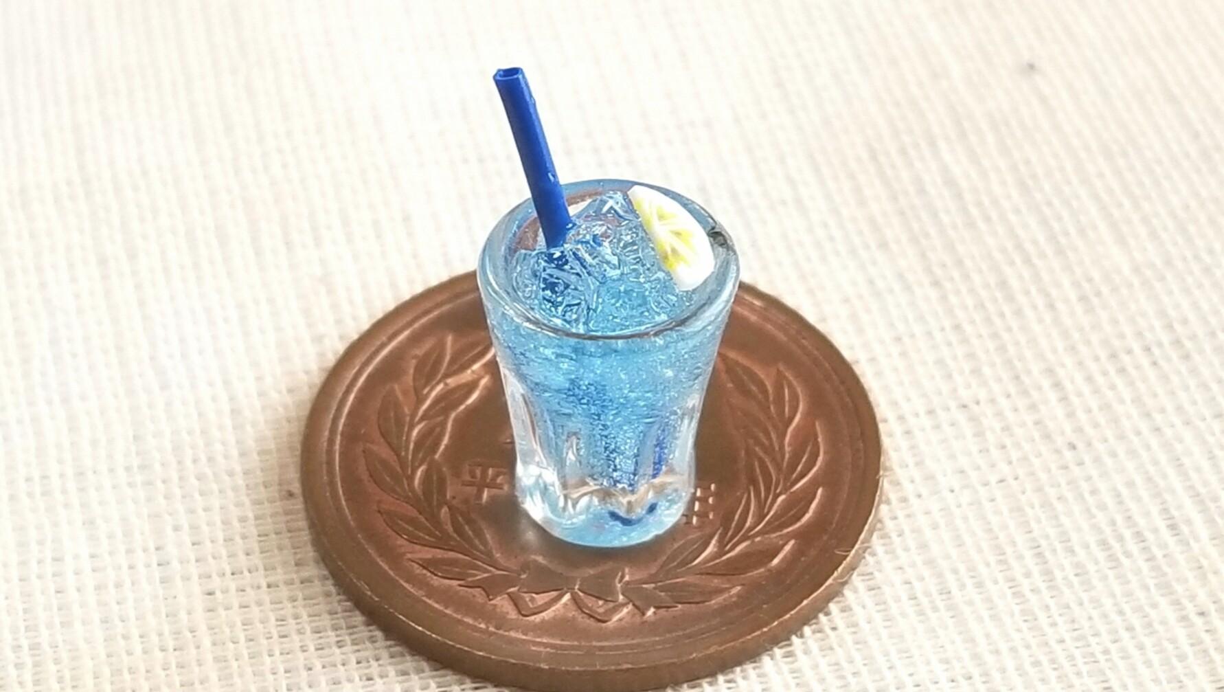 夏に合う冷たい飲み物ドリンクブルージュース炭酸美味しいお洒落な